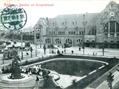 Aachen Bahnhof mit Kriegerdenkmal