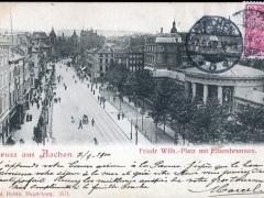 Aachen Friedr Wilh Platz mit Elisenbrunnen
