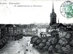 Aachen Kaiserplatz St Adalbertskirche u Panorama