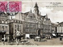 Aachen Markt mit Karl Denkmal