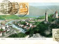 Altena Blick auf das Lennetal im Hintergrund der hohe Wixberg