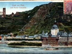 Caub mit Pfalz und Ruine Gutenfels