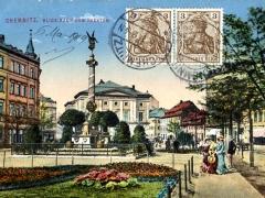 Chemnitz Blick nach dem Theater