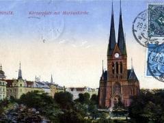 Chemnitz Körnerplatz mit Markuskirche