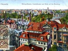 Chemnitz Metropoltheater Centraltheater und Blick auf den Kassberg