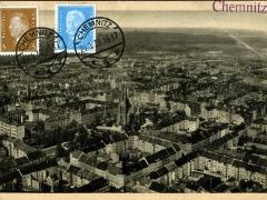Chemnitz Teilansicht des Ostviertels Luftbild