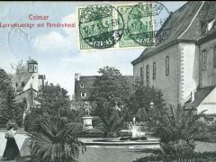 Colmar Lyceumsanlage mit Hirndenkmal
