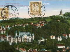 Eisenach Blick nach Kurhaus und Burschenschaftsdenkmal