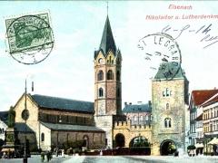 Eisenach Nikolaitor und Lutherdenkmal