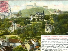 Eisenach Partie am Hainstein mit Blick auf die Wartburg