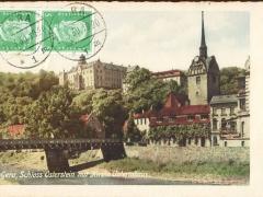 Gera Schloss Osterstein mit Kirche Untermhaus