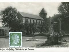 Giessen Schiffenberg Klosterkirche mit Brunnen