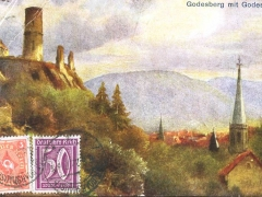 Godesberg mit Godesburg Künstlerkarte