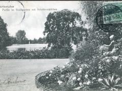 Karlsruhe Partie im Stadtgarten mit Schäfermädchen