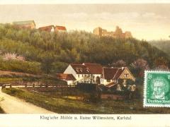 Karltal Klugsche Mühle und Ruine Willenstein