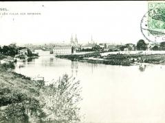 Kassel von der Fulda aus gesehen