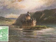 Kaub die Pfalz Künstlerkarte
