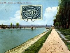 Kehl a Rh Partie am Rhein mit Brücke