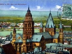 Mainz a Rh Blick vom Stephansturm