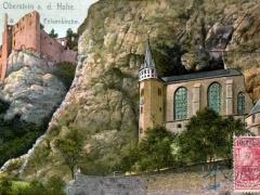 Oberstein a d Nahe Schloss und Felsenkirche
