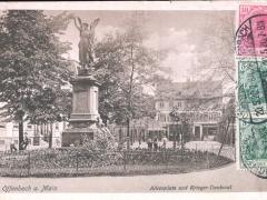 Offenbach a Main Alicenplatz und Krieger Denkmal