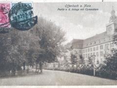 Offenbach a Main Partie a d Anlage mit Gymnasium