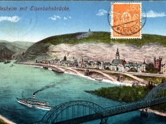 Rüdesheim mit Eisenbahnbrücke
