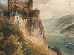 Rheinstein Burg Künstlerkarte