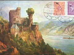 Rheinstein Schloss Künstlerkarte