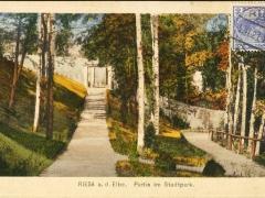 Riesa Partie im Stadtpark