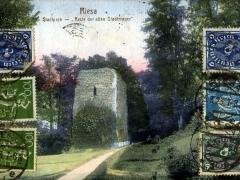 Riesa Stadtpark Reste der alten Stadtmauer