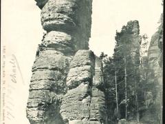Sächsische Schweiz Basteigebiet Wehlnadel der Abstieg
