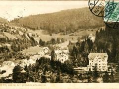 Triberg Partie mit Schwarzwaldhotel