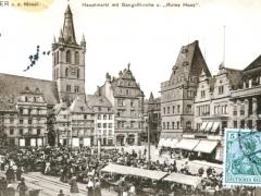 Trier a d Mosel Hauptmarkt mit Gangolfkirche u Rotes Haus