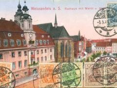 Weissenfels Rathaus mit Markt