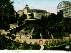 Weissenfels a S Schloss vom Stadtpark aus gesehen