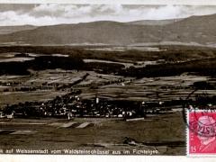 Weissenstadt vom Waldsteinschüssel aus im Fichtelgeb