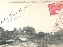 Libreville Vue prise du wharf de la marine