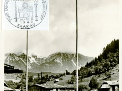 Propagandakarte Reichsarbeitsdienst Flaggenparade