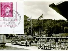 Propagandakarte Reichsarbeitsdienst nach dem Morgenappell der Tagesdienst beginnt