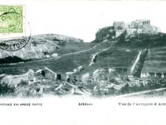 Athen Vue de l'Acropole
