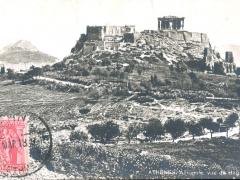 Athenes Acropole vue de Hag Dimitri