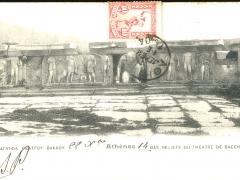 Athenes Bas Reliefs du Theatre de Bacchus