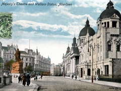 Aberdeen His Majesty's Theatre and Wallace Statue