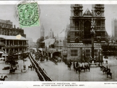 Coronation Procession 1911 Arrival ot their Majesties at Westminster Abbey