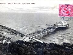 Folkestone Beach and Victoria Pier