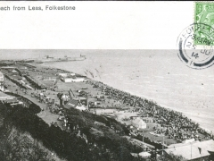 Folkestone Beach from Leas
