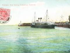 Folkestone Harbour Boulgne Boat leaving
