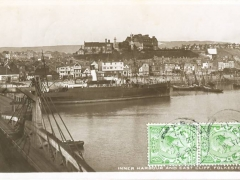 Folkestone inner Harbour and East Cliff