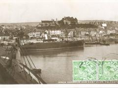 Folkestone inner Harbour and East Cliff